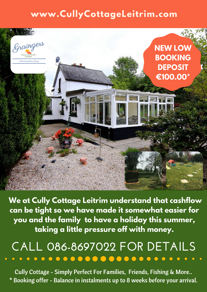 BOOKING DEPOSIT OFFER CULLY COTTAGE